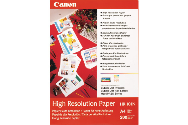 CANON Papier High Resol. 105g A4 HR101A4 Bubble-Jet 200 Blatt
