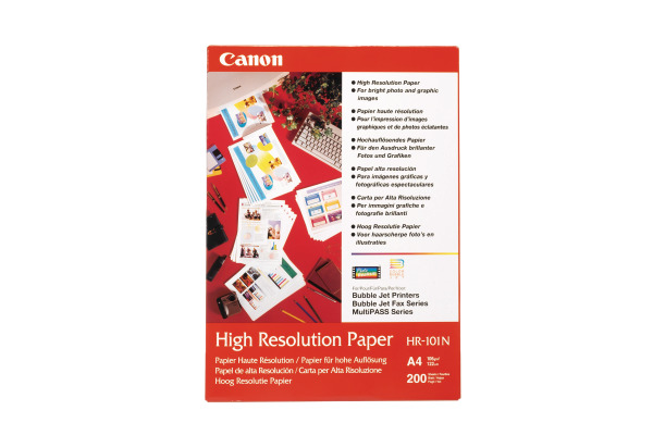CANON Papier High Resolution A4 HR101NA4 Bubble-Jet, 106g 50 Blatt