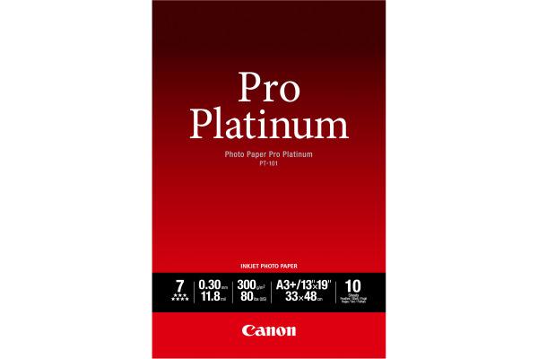 CANON Pro Platinum Photo Paper A3+ PT101A3+ InkJet glossy 300g 10 Blatt
