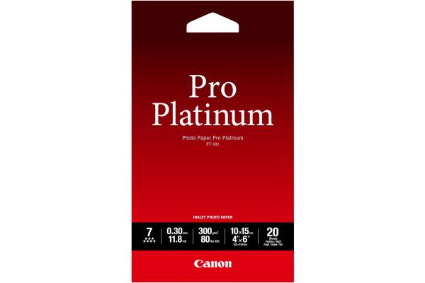 CANON Pro Platinum Photo Pap.10x15cm PT101A6 InkJet glossy 300g 20 Blatt