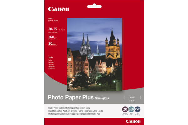 CANON Photo Paper Semi-gloss 20x25cm SG2018x10 PIXMA, 260g 20 Blatt