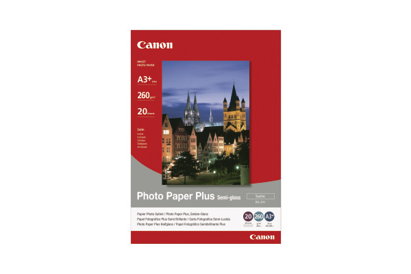 CANON Photo Paper Semi-gloss A3+ SG201A3+ PIXMA, 260g 20 Blatt