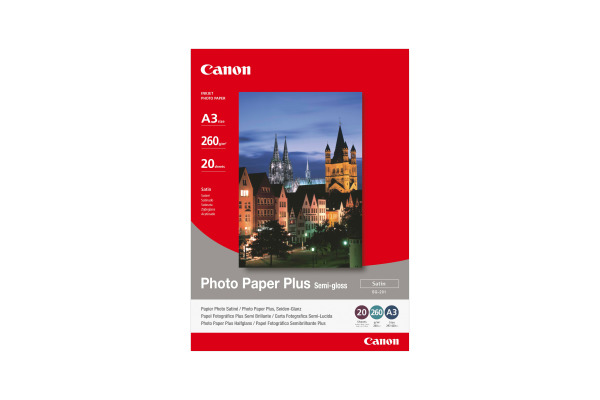 CANON Photo Paper Plus Semi-gloss A3 SG201A3 PIXMA, 260g 20 Blatt