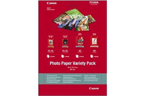 CANON Photo Pap.Variety Pack A4/A6 VP101A4/6 InkJet 20 Blatt