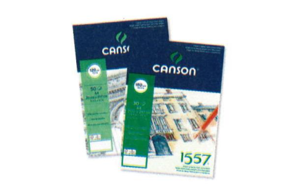 CANSON Skizzenblock 1557 A5 204127407 50 Blatt, geleimt, 120g