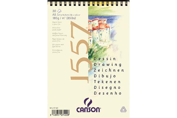 CANSON Skizzenpapier A4 4127-423 180g, weiss 30 Blatt