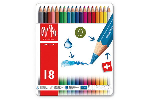CARAN DACHE Farbstifte Fancolor 1288.318 18 Farben