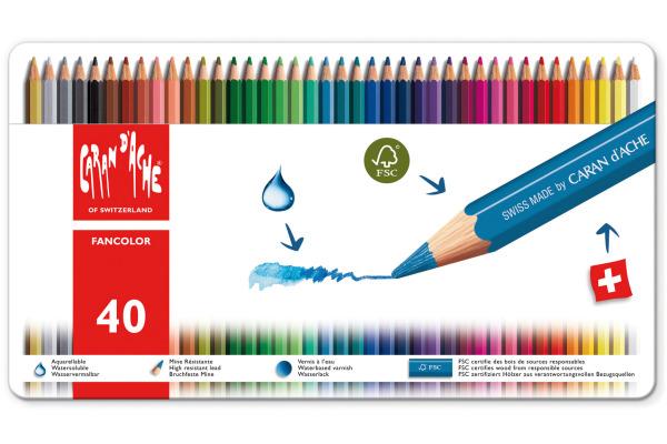 CARAN DACHE Farbstifte Fancolor 1288.340 40 Farben