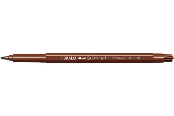 CARAN DACHE Fasermalstift Fibralo 185.059 braun