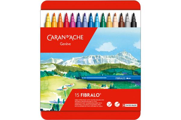 CARAN DACHE Filzstift Fibralo M 185.315 15-farbig assortiert