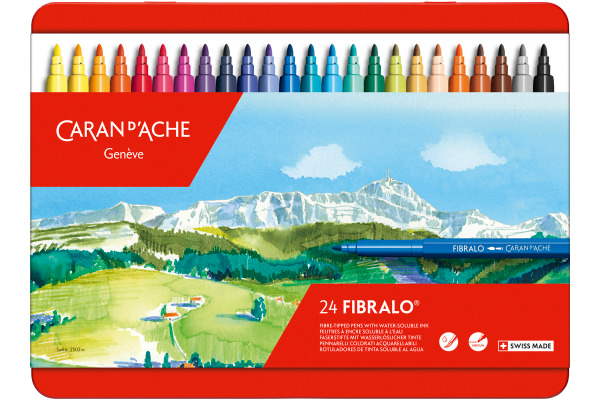 CARAN DACHE Filzstift Fibralo M 185.324 24-farbig assortiert