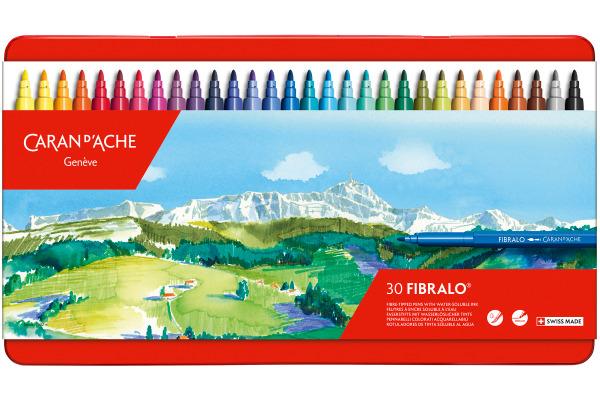 CARAN DACHE Filzstift Fibralo M 185.330 30-farbig assortiert