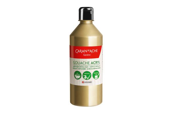 CARAN D´A Deckfarbe Gouache 500ml 2372.999 gold flüssig