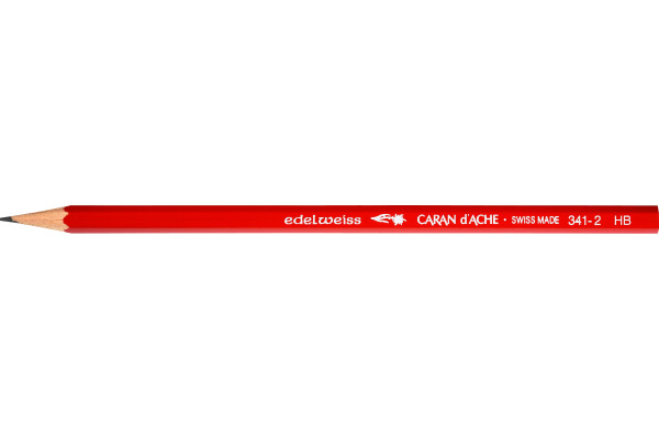 CARAN DACHE Schulbleistift Edelweiss HB 341.272 rot