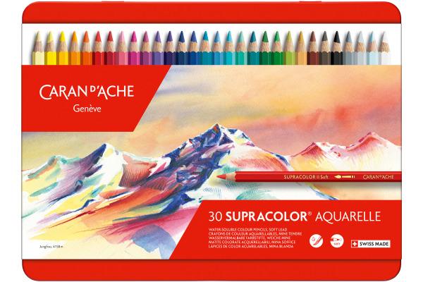 CARAN D´A Farbstifte Supracolor 3,8mm 3888.330 ass. in Metallsch. 30 Stück