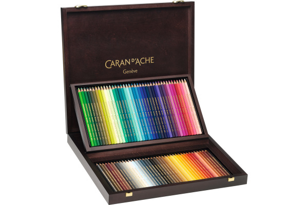 CARAN D´A Farbstifte Supracolor 3,8mm 3888.920 ass. in Holzschachtel 120 Stk.