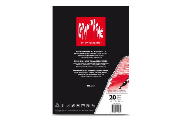CARAN DACHE Zeichenblock A3 454.003 220g 20 Blatt
