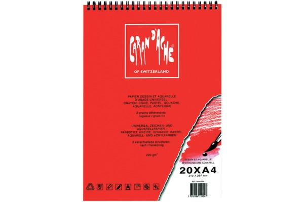 CARAN DACHE Zeichenblock A4 454.004 220g 20 Blatt