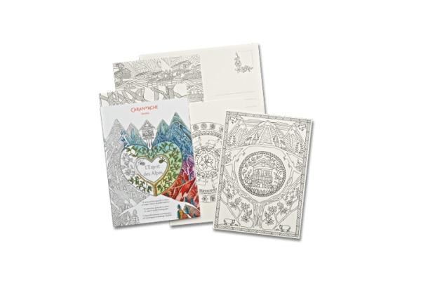 CARAN D´A Block Aquarell 454.012 12 Postkarten