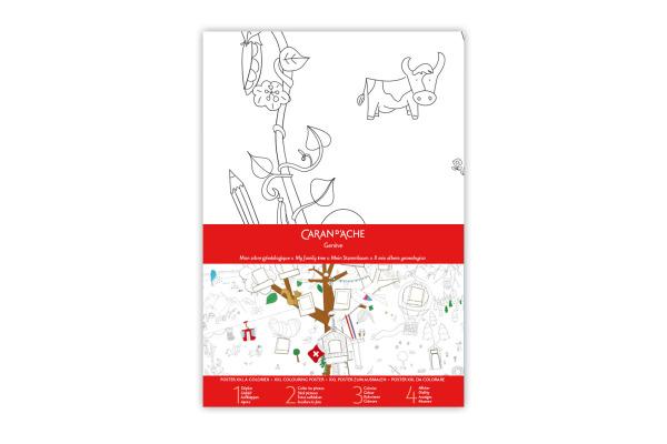CARAN D´A Stammbaum Poster XXL 454.203 Farbstifte FSC