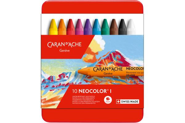 CARAN DACHE Wachsmalkreide Neocolor 1 7000.310 10 Farben...