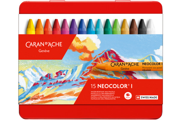 CARAN DACHE Wachsmalkreide Neocolor 1 7000.315 15 Farben...