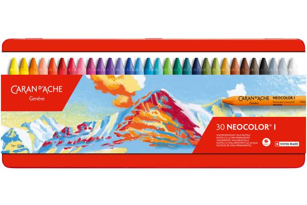 CARAN DACHE Wachsmalkreide Neocolor 1 7000.330 30 Farben...