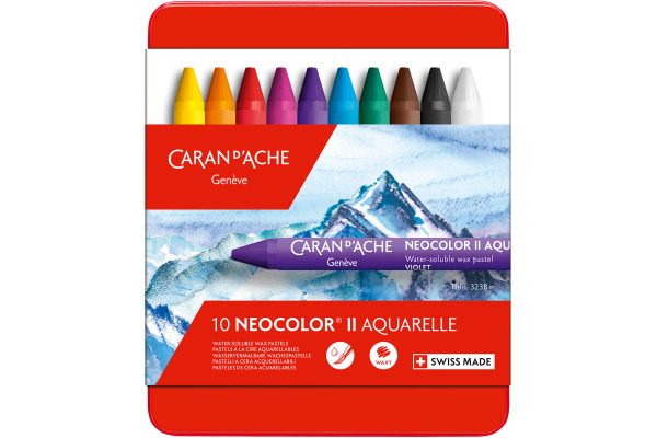 CARAN DACHE Wachspastelle Neocolor II 7500.310 10-farbig...