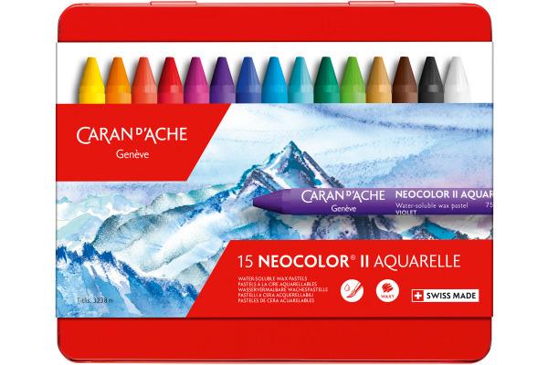 CARAN DACHE Wachspastelle Neocolor II 7500.315 15-farbig...