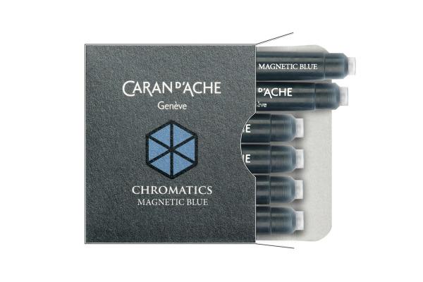 CARAN DACHE Tintenpatrone 8021.149 Magnetic Blue 6...