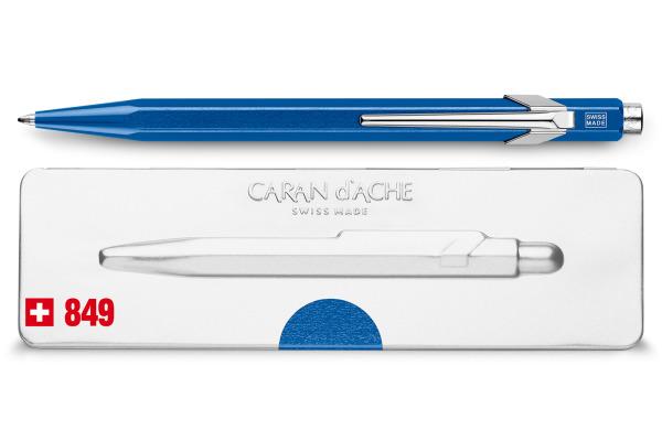 CARAN D´A Kugelschreiber 849 mit Etui 849.640 blau metallic