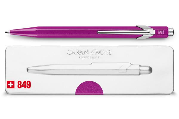 CARAN D´A Kugelschreiber 849 mit Etui 849.850 violett metallic