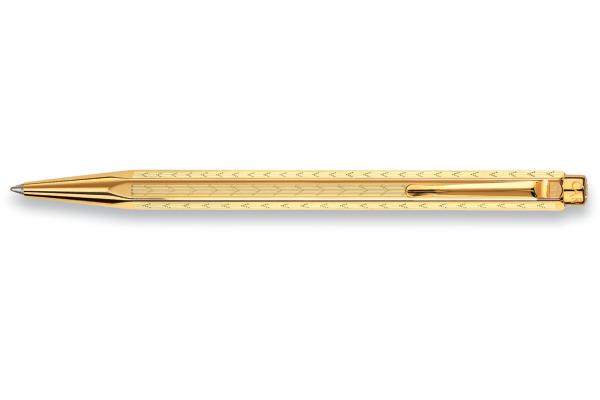 CARAN D´A Kugelschreiber 898.208 gold Ecridor Chevron