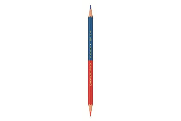 CARAN DACHE Farbstift Bicolor 999.300 blau rot