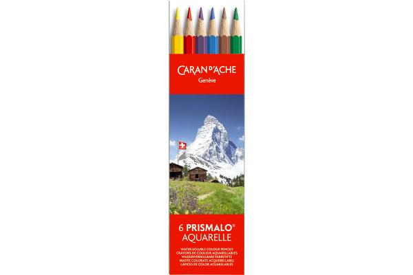CARAN DACHE Farbstifte Prismalo 3mm 999.306 assortiert 6...