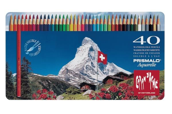 CARAN d´A Farbstifte Prismalo 3mm 999.340 ass. in Metallsch. 40 Stück