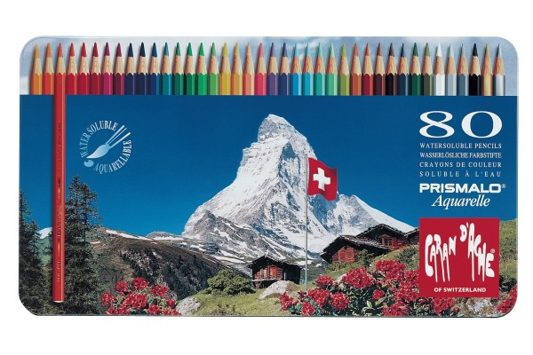 CARAN d´A Farbstifte Prismalo 3mm 999.380 ass. in Metallsch. 80 Stück