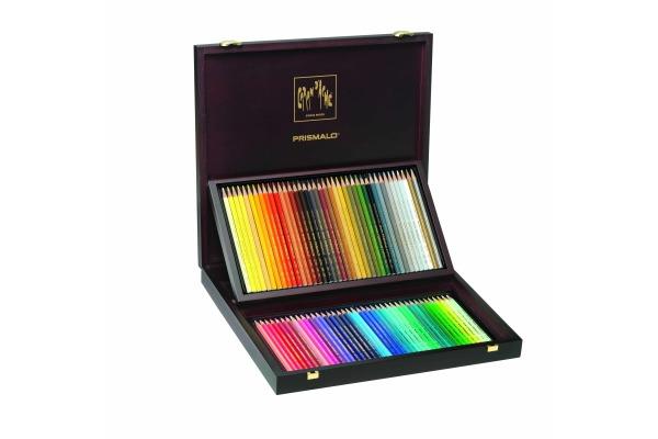 CARAN D´A Farbstifte Prismalo 3mm 999.480 ass. in Holzschachtel 80 Stück