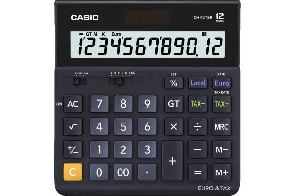CASIO Tischrechner Solar DH12TER dunkelblau 12-stellig