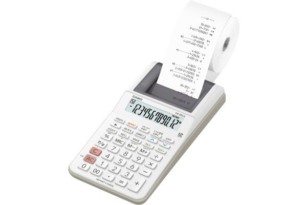 CASIO Tischrechner druckend HR-8RCEWE 12-stellig weiss