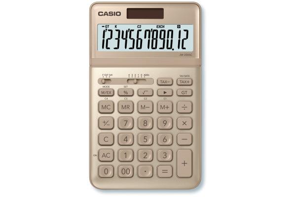 CASIO Tischrechner JW200SCGD 12-stellig gold