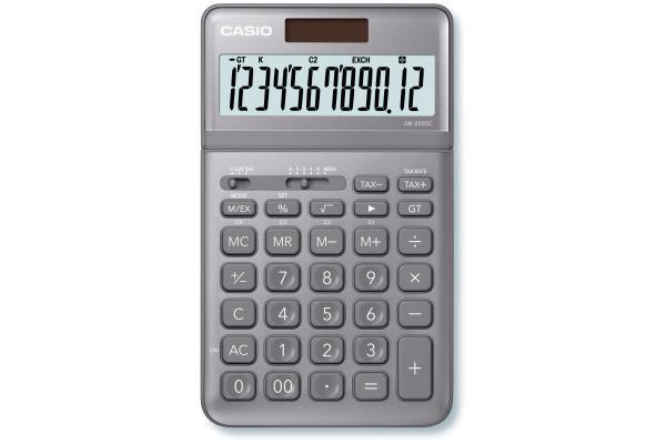 CASIO Tischrechner JW200SCGY 12-stellig grau