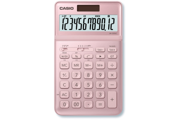 CASIO Tischrechner JW200SCPK 12-stellig pink