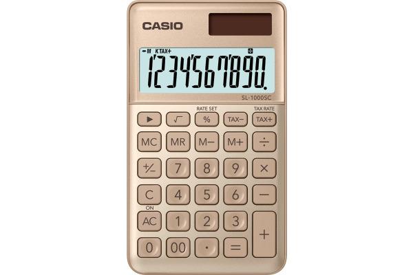 CASIO Taschenrechner BIC SL1000SCG 10-stellig gold