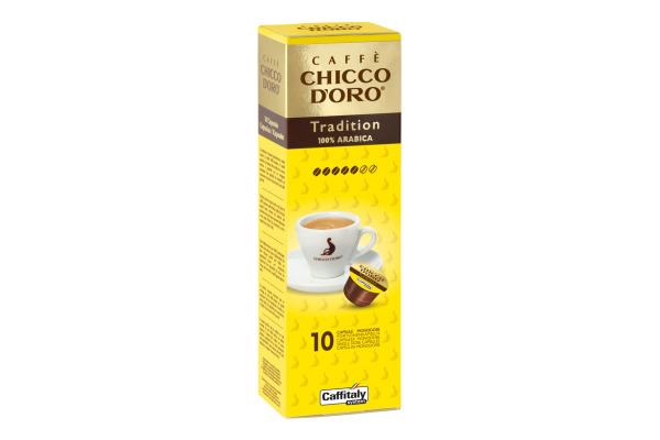 CHICCO DORO Kaffee Caffitaly 802000 Tradition Arabica 10...