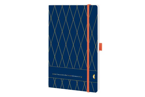 CHRONOPLA Chronobook Origins Vintage 50471Z.21 13.5x21cm 1W/2S, Ocean Blue