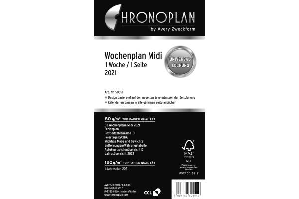 CHRONOPLA Wochenplan 2021 50551Z.21 1W/1S