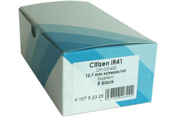 CITIZEN Farbband Nylon schwarz/rot IR 41 IDP-3421