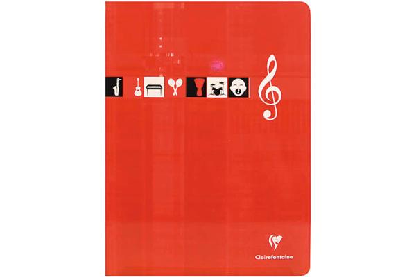 CLAIREFON Musikheft A4 3117 weiss 24 Blatt