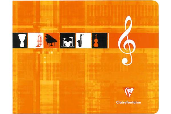 CLAIREFON Musikheft Italian 22x17cm 3754 weiss 24 Blatt